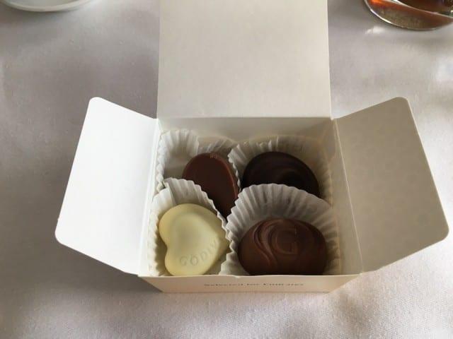Box of Godiva chocolats
