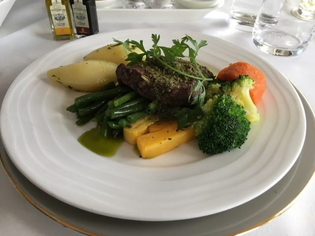 Beef tenderloin main course