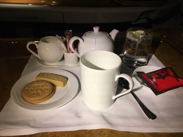 Nasi Goreng tea and biscuts