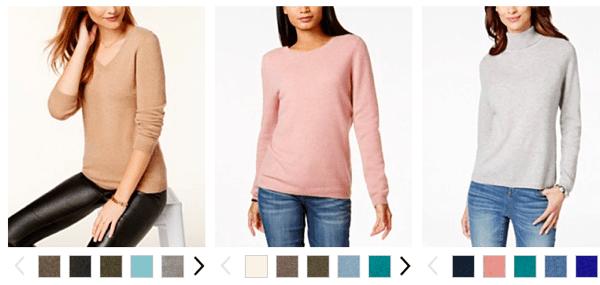 Macys Cashmere Sweaters