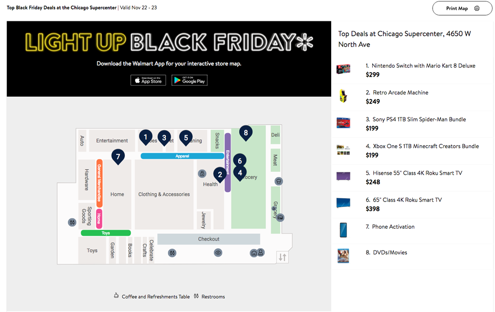 Where To Find The Walmart Black Friday Store Map Layout