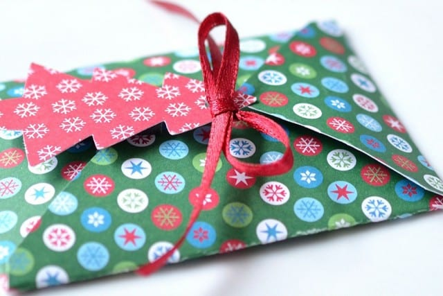 gift wrapped up with tag on it