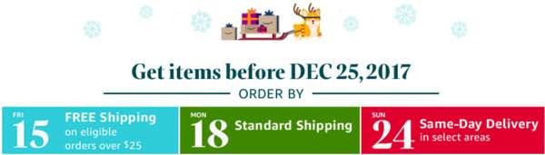 Amazon shipping calendar
