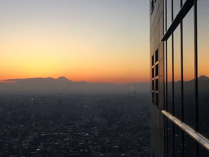 You can use your points to stay at the Park Hyatt Tokyo (and catch a glimpse of Mt. Fuji!) Photo by Mark Jackson