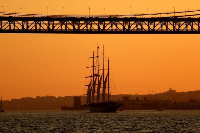 Sailing vessel in Portugal