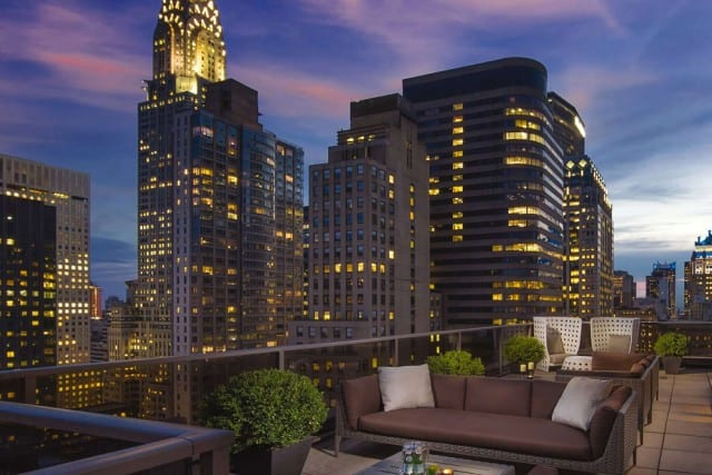 rooftop view at Wyndham 45 Manhattan