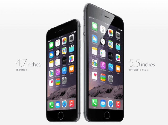 a 4.7 inch iphone 6 and 5.5 inch iphone 6 plus