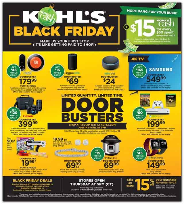 Kohls Black Friday mailer