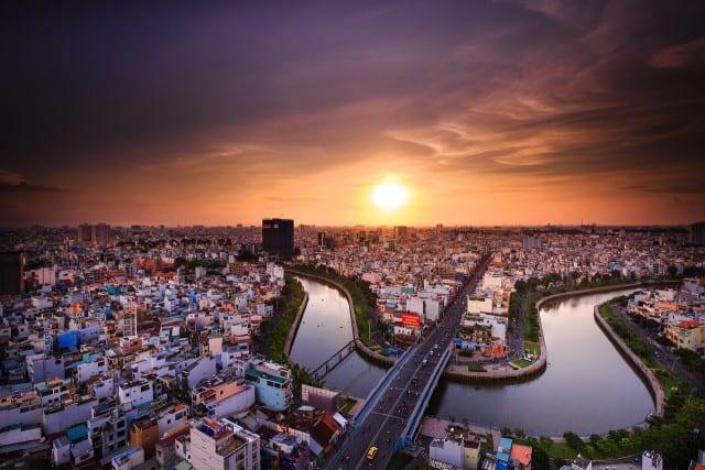 aerial photo of Vietnam