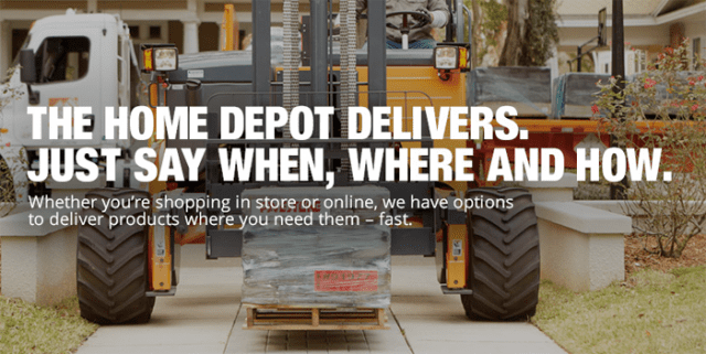 home depot shipping