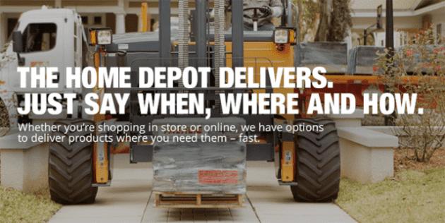 Home Depot shipping