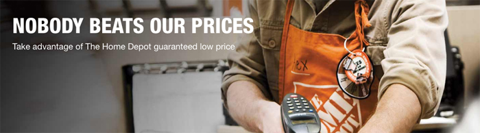 The Home Depot Guaranteed Low Price policy