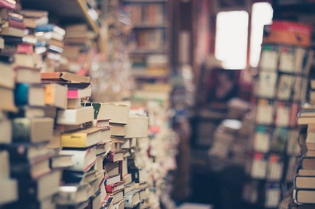 stacks of used books