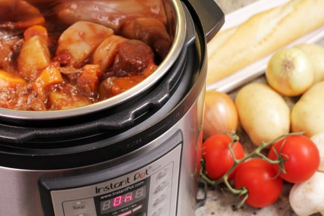 meal cooked in an instantpot