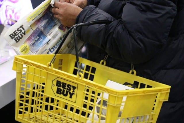 Best Buy shopping basket