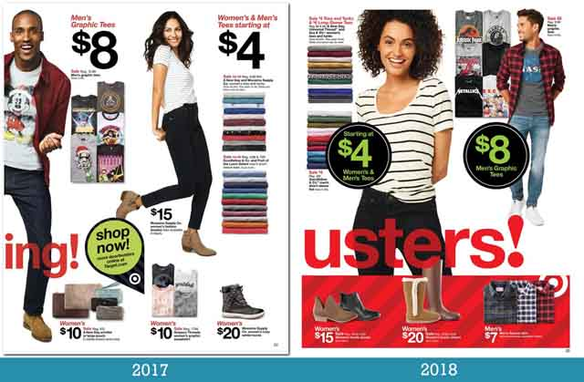 Target black friday mailer, 2017 and 2018