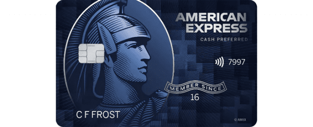 an American Express cash preferred card