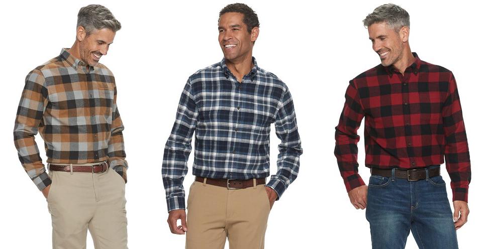 mens-flannel-shirts-kohls-black-friday-sale-2019