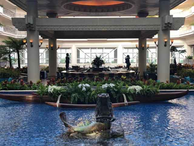 the lobby of the Waldorf Astoria in Hawaii