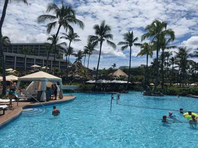 the pool at the Waldorf Astoria in Hawaii