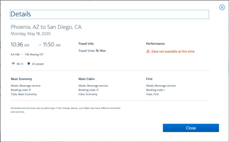Flight reservation details