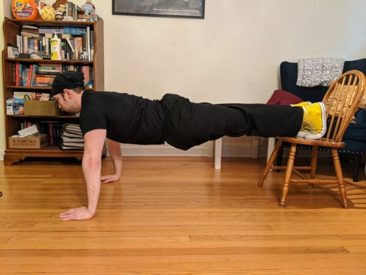 Decline pushup photo