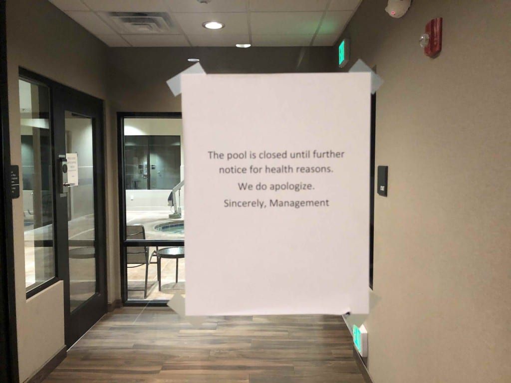 hampton-inn-lake-powell-pool-closure