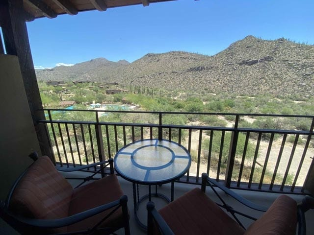 the Ritz Carlton Dove Mountain view from room