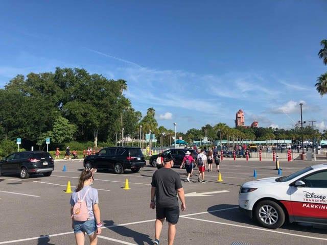 Disney World, parking lot