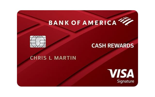 Bank of America Cash Rewards Visa card