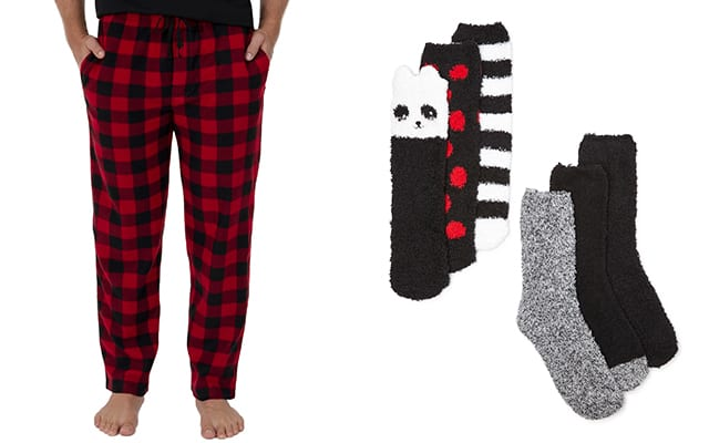 walmart pajama pants and socks
