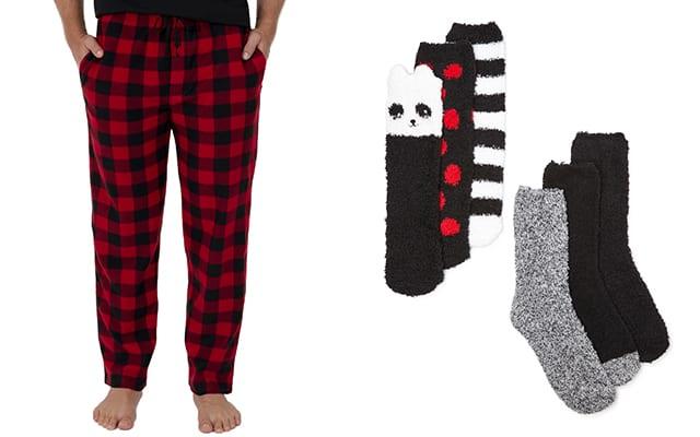 celana dan kaus kaki piyama walmart