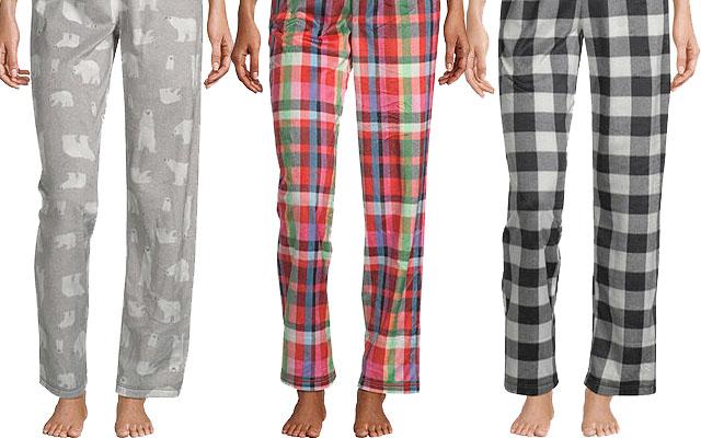 Women's fleece sleep pants