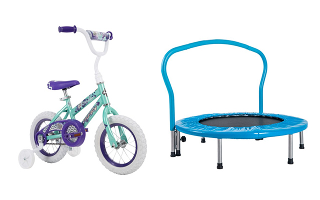 walmart kids trampoline and bike