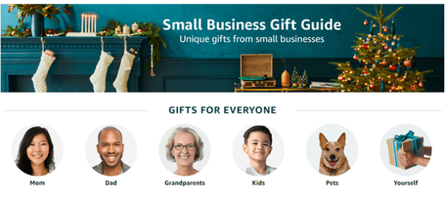 amazon small business gift guide