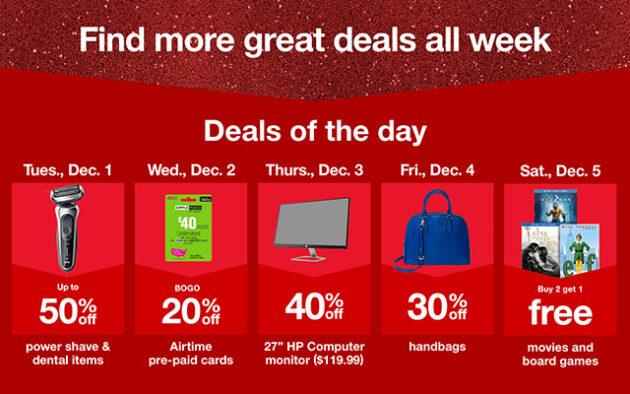 target cyber week deals