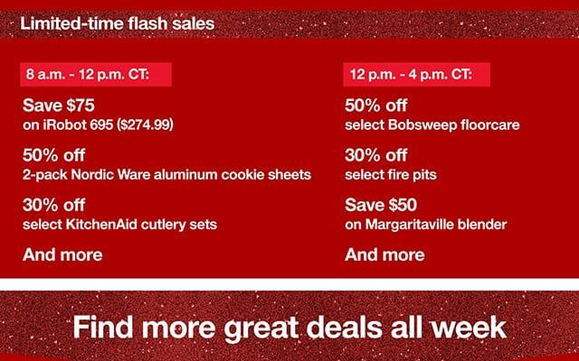 target flash sales