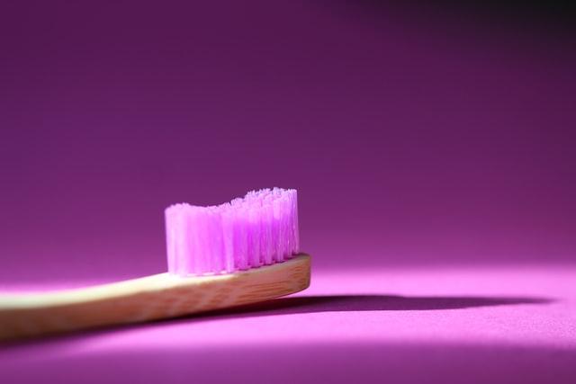 purple bamboo toothbrush