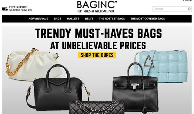 baginc website