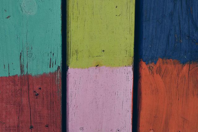 paint colors on wood
