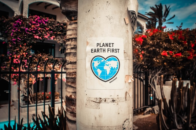 save planet earth sign