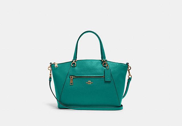 coach outlet green satchel
