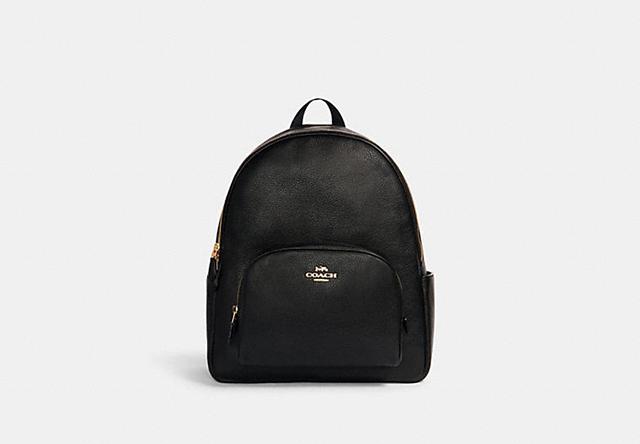 coach outlet black backpack