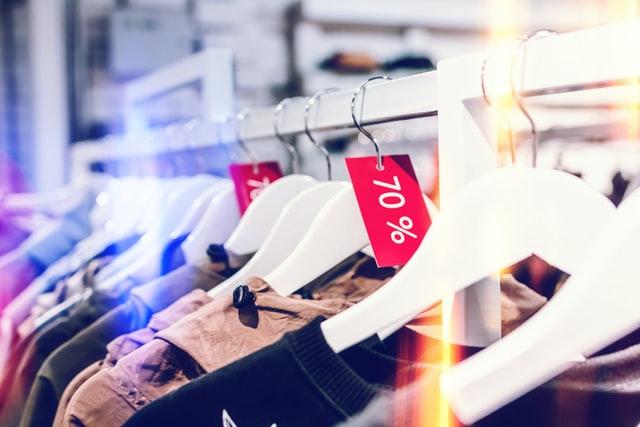 clearance sale rack